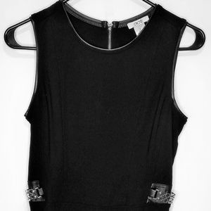 Bebe Black with Gold Metal Peplum Zipper Size S
